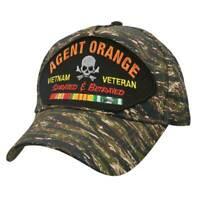 Agent Orange Vietnam Veteran Sprayed and Betrayed Tiger Stripe Patch Hat
