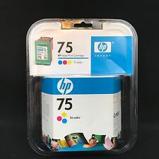 Genuine HP 75 Tri-Color High Capacity INK Cartridge FACTORY SEALED Package 12/10