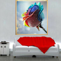 Colorful Rose 5D Diamond Painting Embroidery DIY Cross Stitch Kits Crafts Decor