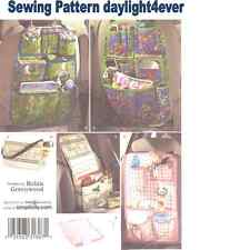 Car Bag Storage Over the Seat Auto Tote Diaper Bag Sewing Pattern 2916 New #r