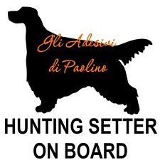 ADESIVO SETTER A BORDO, ON BOARD STICKERS, HUNTING SETTER, SETTER scolopax