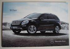 Mercedes . M Class . Mercedes M Class . December 2010 Sales Brochure
