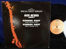 """ROY AYERS UBIQUITY Running Away SPECIAL DISCO VERSION 12"""" boogie down! VG+"""