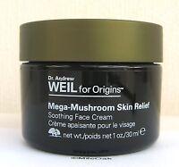 Origins Dr Weil Mega Mushroom Skin Relief Soothing Cream - 30ml - NEW  Green Lid