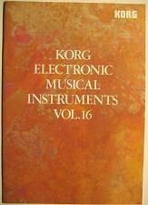 KORG ELECTRONIC MUSICAL INSTRUMENTS VOL. 16 - KATALOG VON 1990