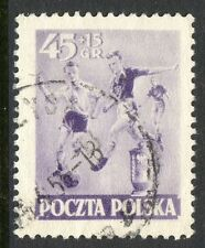Poland Stamp Scott #B76 Sports Type 1952