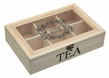 Le 'Xpress by Kitchen Craft Wood Wooden Tea Sachet / Bag Chest Storage Caddy Box