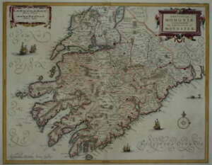 IRELAND. THE PROVINCE OF MUNSTER.  JANSSONIUS 1646.