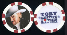 TOBY KEITH 2006 Poker Chip!!! I Love This Bar & Grill Casino RED Border
