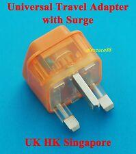 USA AUS Euro to UK Hong Kong Universal Travel Adaptor AC Power Plug + Surge