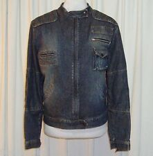 "BEAUTIFUL SASS&BIDE BIKER DENIM JACKET AUS 10,USA 4 ""DUTCH MOTORCROSS"""