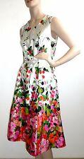 60er 70er Jahre Kleid Geblümt Sommerkleid 50s Style Dress Ärmellos Vintage retro