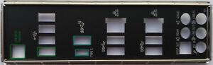 ASUS I/O IO SHIELD BLENDE BRACKET WS X299 PRO SE, WS C422 PRO/SE, WS X299 PRO