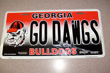 Georgia Go Dawgs Auto Tag