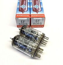 Matched Pair  EF806S  NOS Telefunken <>  Germany Valve Tubes