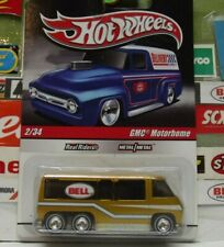 """HOT WHEELS 1:64 REAL RIDERS """"BELL"""" GOLD GMC MOTORHOME 2/34, R3728"""