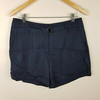Jacqui E Shorts Size 10 Navy Blue