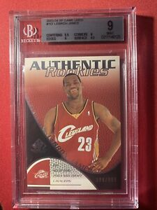 2003-04 LEBRON JAMES ROOKIE SP Game Used Authentic Rookies RARE #107 BGS 9 MT 🔥