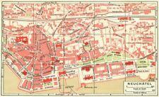 Switzerland Art Prints Spiez-interlaken 1923 Old Vintage Map Plan Chart