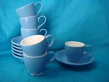 BEVANDE BLUE 85ml ESPRESSO CUP AND SAUCER SET (6-SETS) BRAND-NEW COMMERCIAL