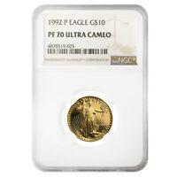 1992 P 1/4 oz $10 Proof Gold American Eagle NGC PF 70 UCAM