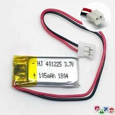 1x Lipo Akku 1s 3,7V 105mAh JST PH Stecker PCB 401225 401230 Video Cam Baby Uhr