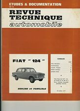 (35A) REVUE TECHNIQUE AUTOMOBILE FIAT 124
