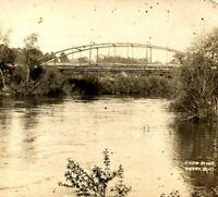 1900s Perry, Iowa - Coon River Bridge Real Photo RPPC Kruxo Postcard Calendar