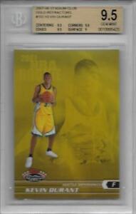 2007 Kevin Durant Stadium Club Gold Refractor RC- BGS 9.5 Gem Mint... #16/99