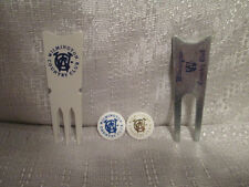 4 Wilmington Country Club Golf 2 Peg Back Ball Mark Markers 2 Divot Tools