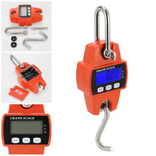 660lbs Portable Crane Scale Industrial Hook Hanging Weight Digital LCD Display