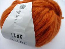 Lang Yarns Malou 50g Farbe 075  terracotta sehr weiche Wolle mit Alpaka