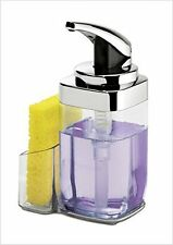 Simplehuman, Push Pump Square Dispenser With Caddy, 650ml, Chrome, KT1159