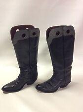 Vintage Handmade Paul Bond Exotic Kangaroo & Shark Western Boots Women's 8 1/2