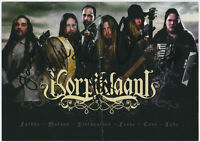 Korpiklaani - HEAVY METAL - hand signed Autograph Autogramm auf Autogrammkarte