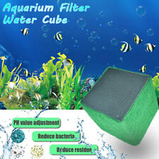 Water Purifier Eco-Aquarium Fish Tank Activated Carbon Clean Filter Cubes !