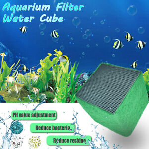 Water Purifier Eco-Aquarium Fish Tank Activated Carbon Clean Filter Cubes !