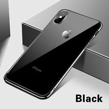 For iPhone X 8 Plus Shockproof Plating Clear Slim Thin Hybrid Bumper Case Cover