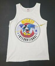 VTG Disney Mickey International Tank Top Mens Small Single Stitch Hem Shirt