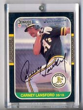 "CARNEY LANSFORD 2004 DONUSS RECOLLECTION AUTO #38/76 ""1987 DONRUSS"""