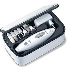 BEURER Elektrisches Maniküre Pediküre Etui-SET 7 Aufsätze Nagelpflege LED Licht