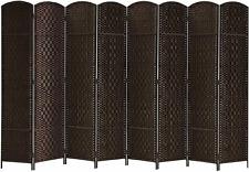 Folding Room Dividers 4 6 8 Panel Privacy Screens Home Decor Diamond Weave Fiber