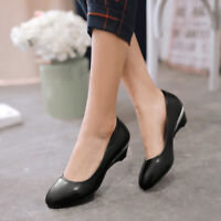 Pointed Toe Shoes Casual Womens Low-heels Comfort shiny-leather Loafers Wrork