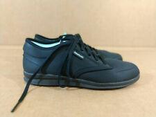 Women Reebok sz 8 black fabric comfort nurse work comfort walking sneaker shoes
