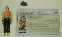 *READ* 1985 GI Joe Silent Weapons Quick Kick v1 Karate Figure *CUSTOM File Card*
