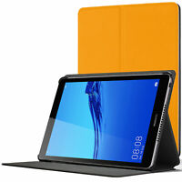 Huawei Mediapad M5 Lite 8 Smart Case Cover Stand   Yellow + Stylus & Protector