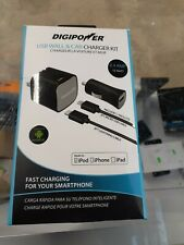 Digipower Usb Wall & Car Charger Kit iPod/iPhone/iPad.