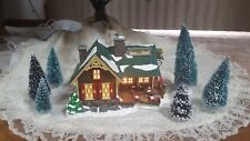 "D-56 1994 Snow Village Series #5460-7 ""Fisherman'S Nook Resort"" - Lighted - Mib"