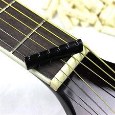 2Set Faux Buffalo Bone Bridge Saddle&Slotted Nut For 6 String Acoustic Guitar EP
