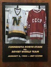 1983 Minnesota North Stars vs Soviet World Team hockey program - Met Center
